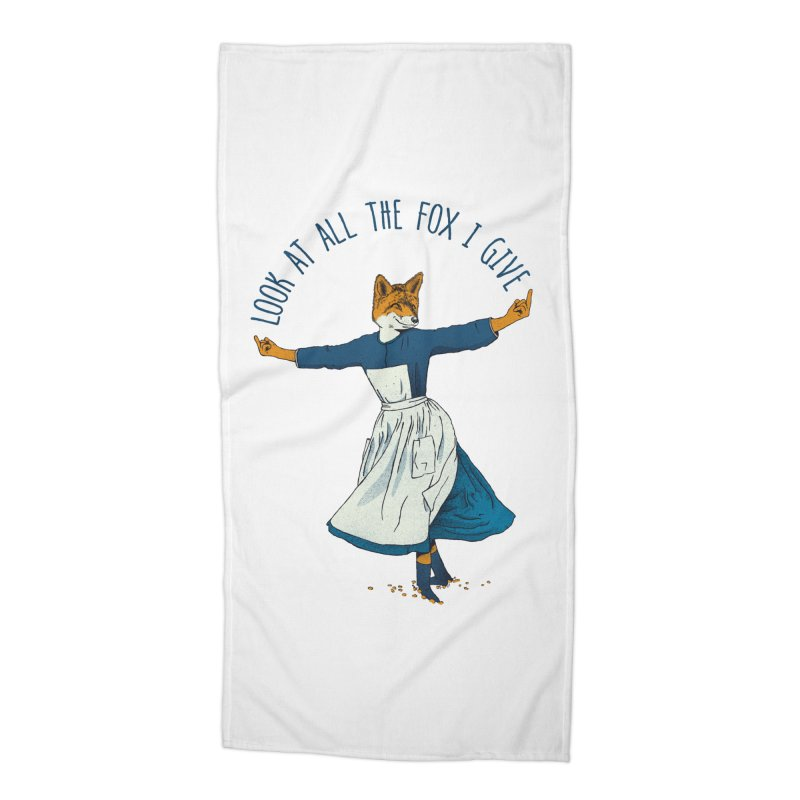 Look At All The Fox I Give - V1 Accessories Beach Towel by Gintron