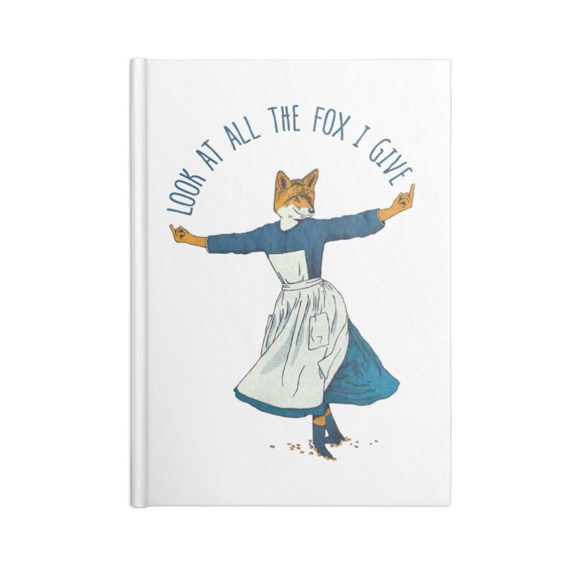 Look At All The Fox I Give - V1 Accessories Notebook by Gintron