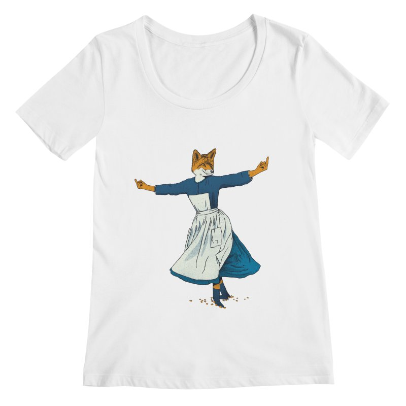 Look At All The Fox I Give - V2 Women's Scoopneck by gintron's Artist Shop