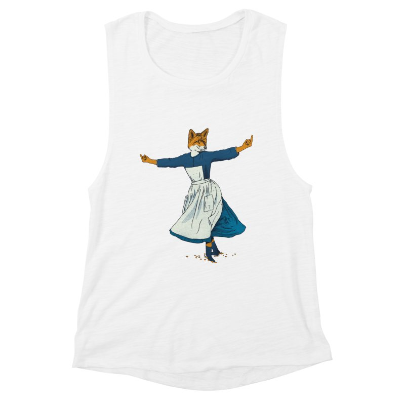 Look At All The Fox I Give - V2 Women's Tank by Gintron