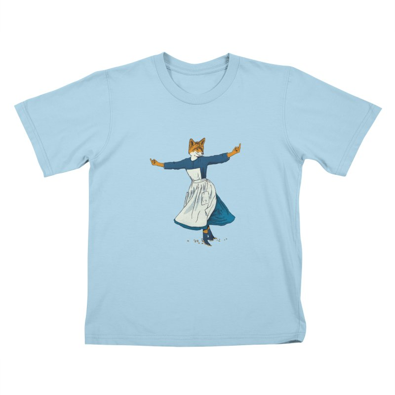 Look At All The Fox I Give - V2 Kids T-Shirt by gintron's Artist Shop