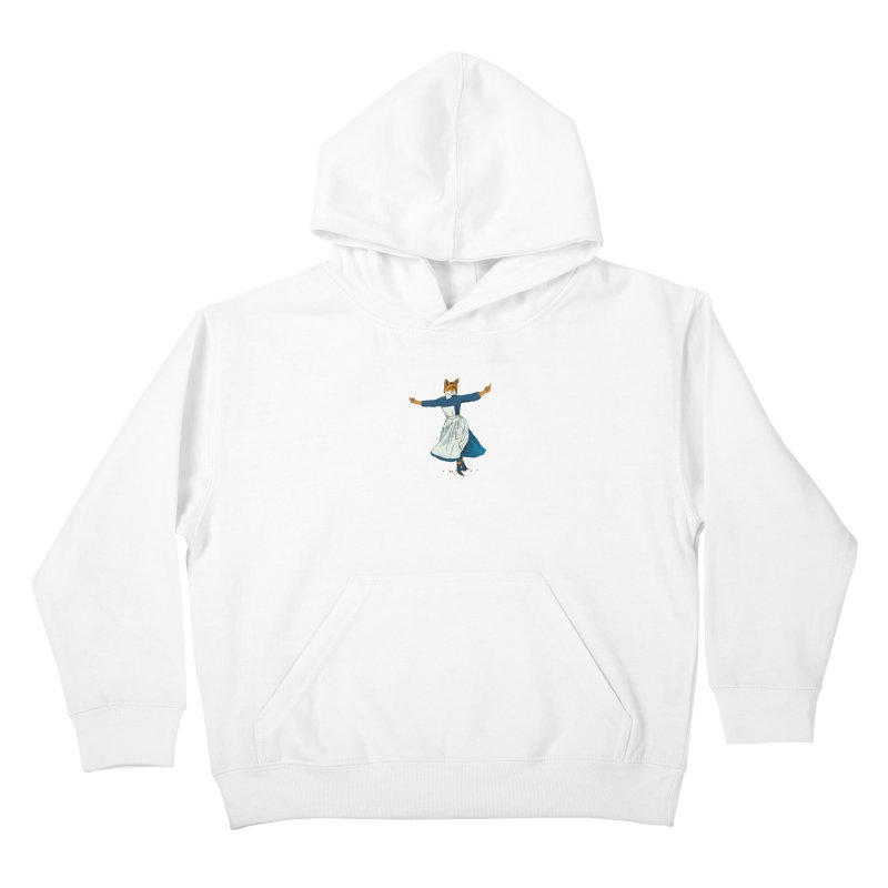 Look At All The Fox I Give - V2 Kids Pullover Hoody by Gintron