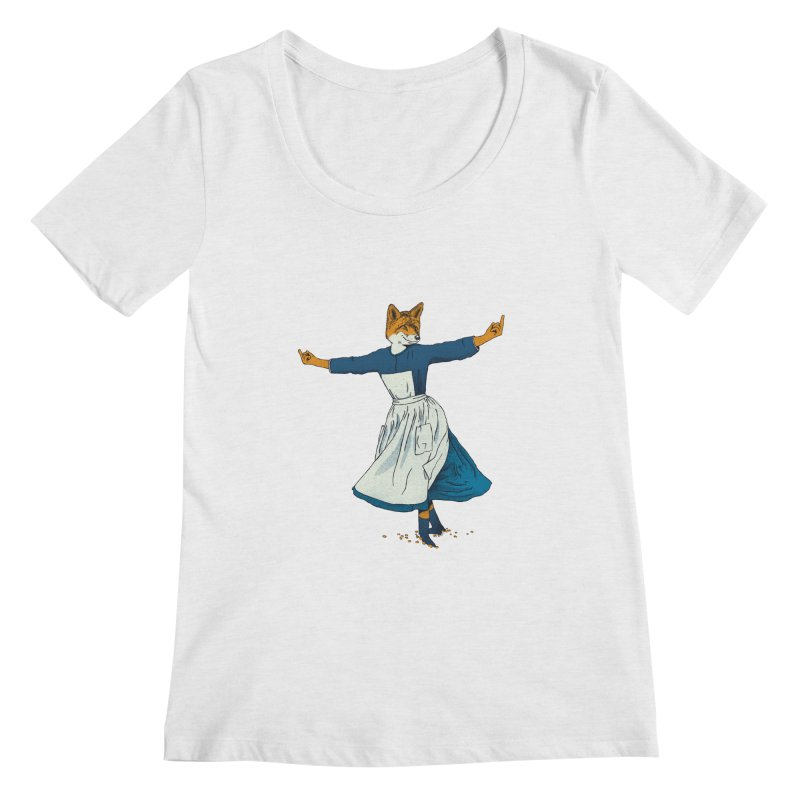 Look At All The Fox I Give - V2 Women's Regular Scoop Neck by Gintron
