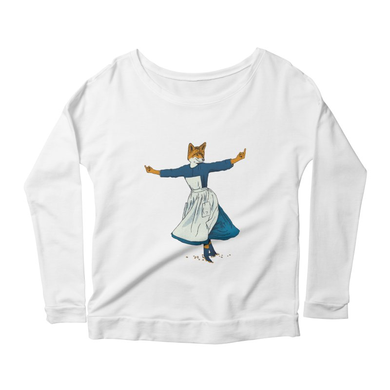 Look At All The Fox I Give - V2 Women's Scoop Neck Longsleeve T-Shirt by Gintron