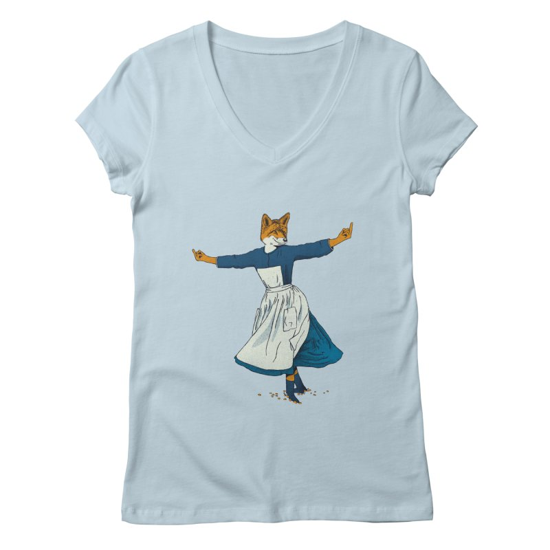 Look At All The Fox I Give - V2 Women's Regular V-Neck by gintron's Artist Shop