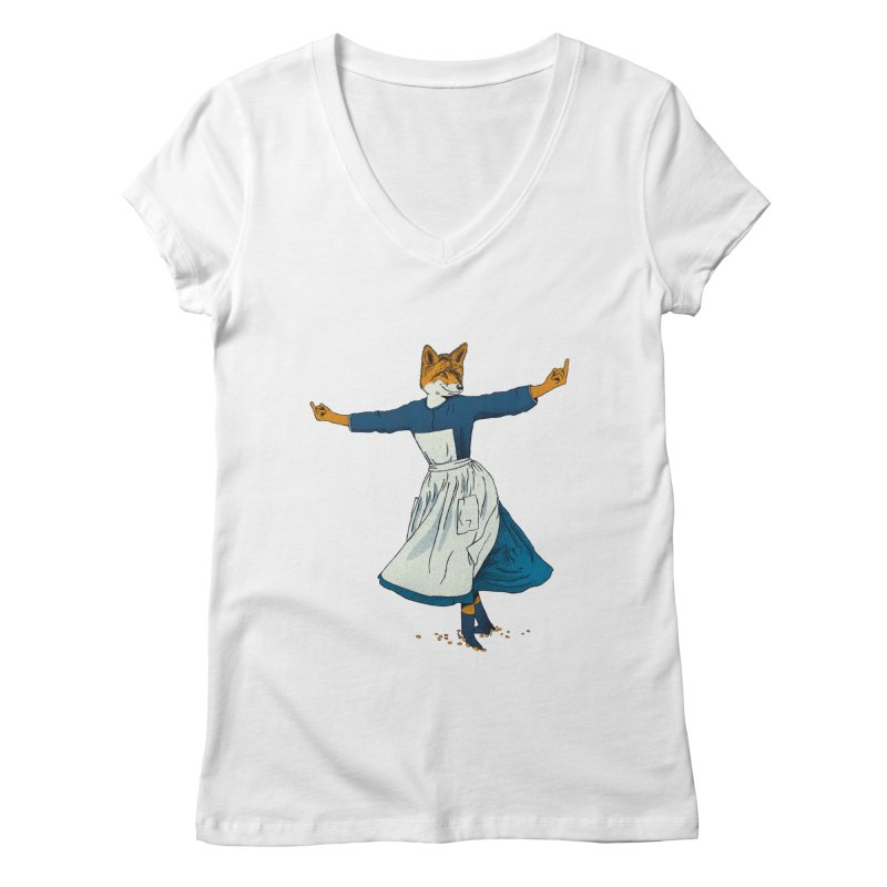 Look At All The Fox I Give - V2 Women's Regular V-Neck by Gintron