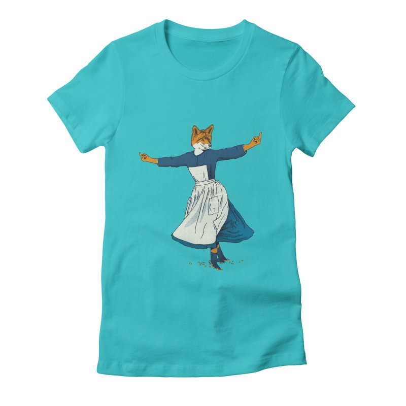Look At All The Fox I Give - V2 Women's Fitted T-Shirt by gintron's Artist Shop