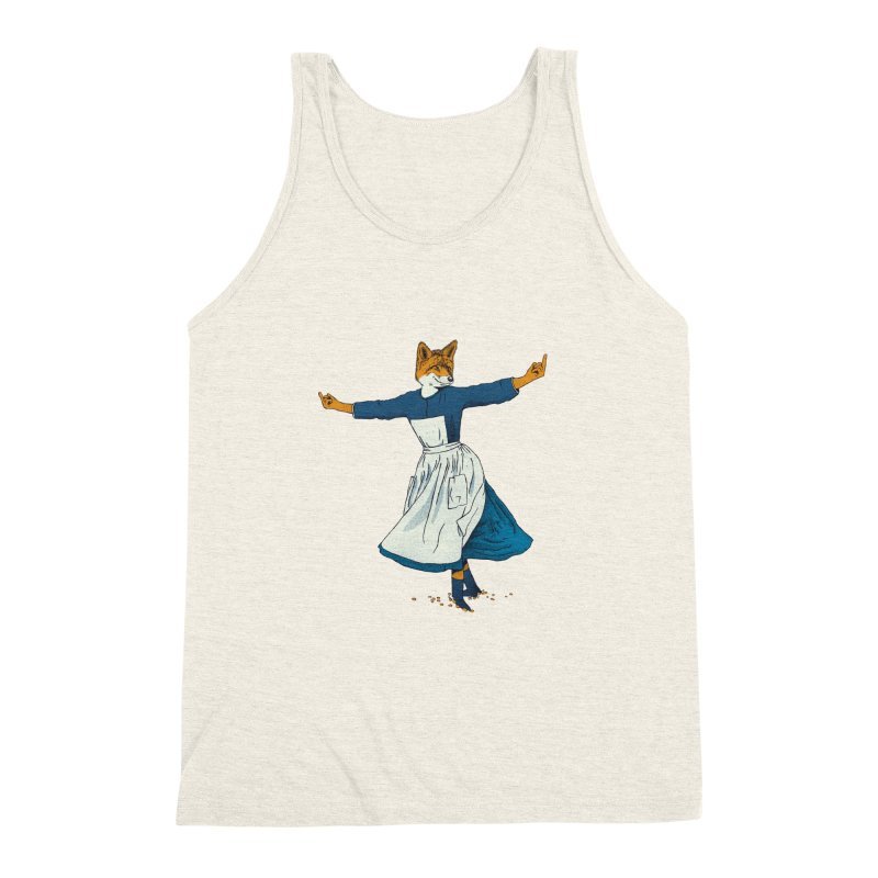 Look At All The Fox I Give - V2 Men's Triblend Tank by Gintron