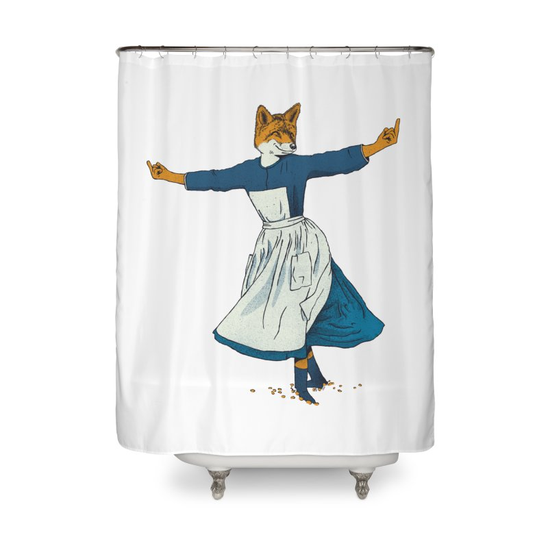 Look At All The Fox I Give - V2 Home Shower Curtain by Gintron