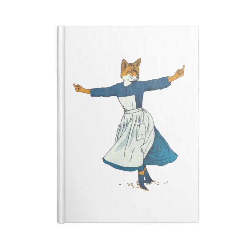 Look At All The Fox I Give - V2 Accessories Lined Journal Notebook by Gintron
