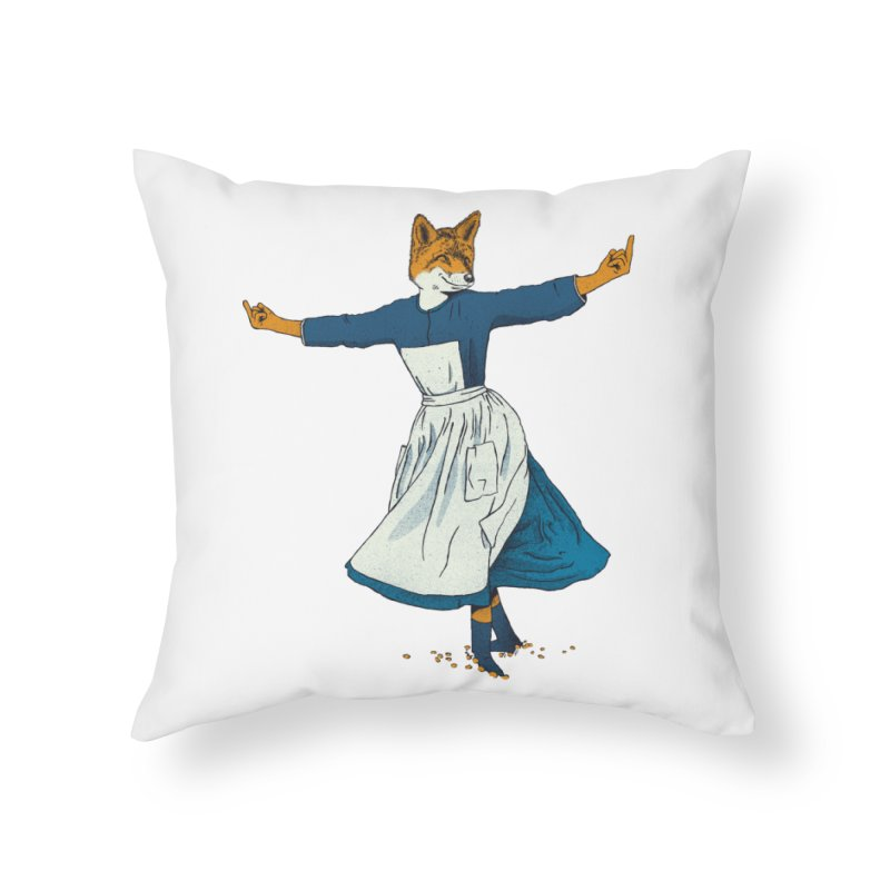 Look At All The Fox I Give - V2 Home Throw Pillow by gintron's Artist Shop
