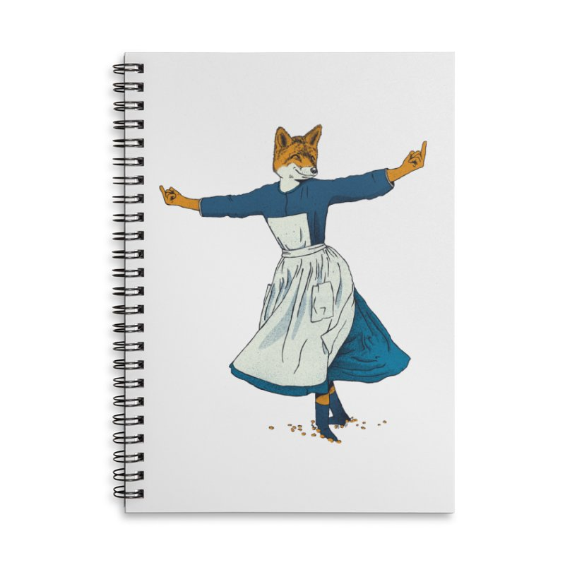 Look At All The Fox I Give - V2 Accessories Lined Spiral Notebook by Gintron