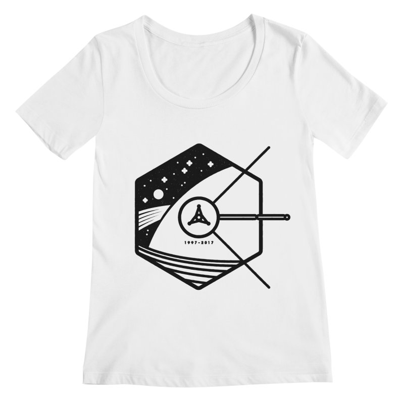 In Honour of Cassini–Huygens Women's Scoopneck by gintron's Artist Shop