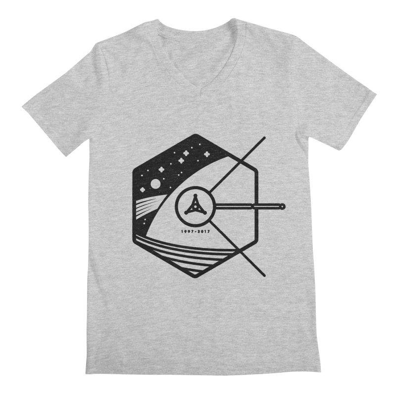 In Honour of Cassini–Huygens Men's V-Neck by gintron's Artist Shop