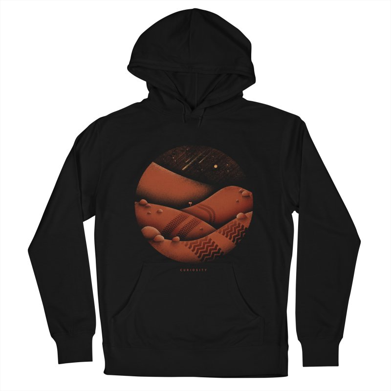 Curiosity Men's French Terry Pullover Hoody by gintron's Artist Shop