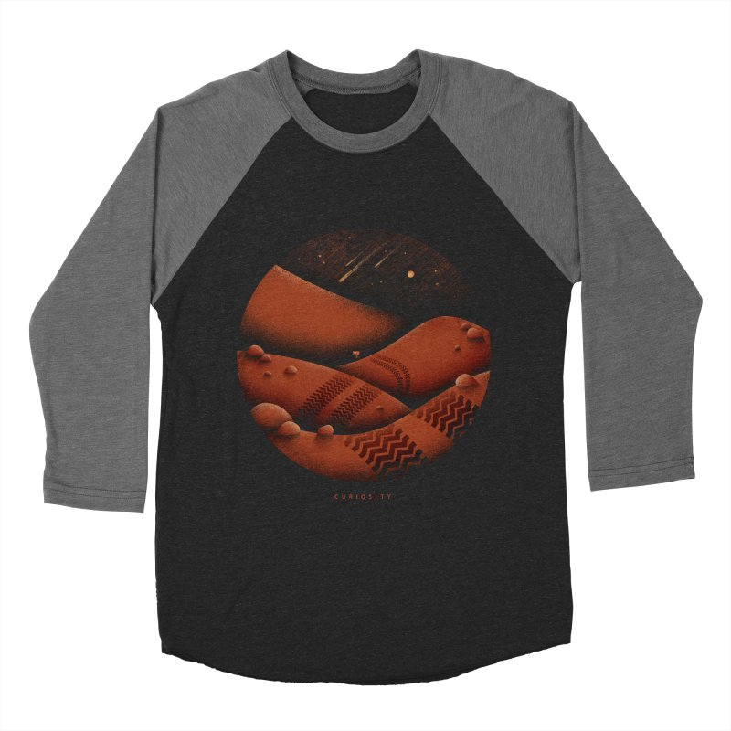 Curiosity Women's Baseball Triblend Longsleeve T-Shirt by gintron's Artist Shop