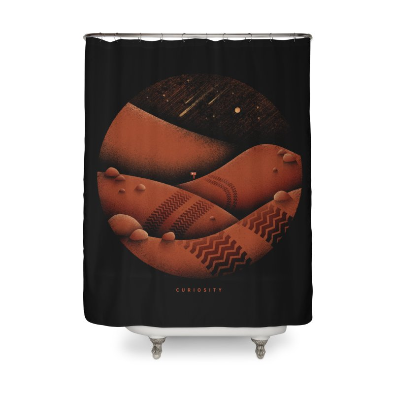 Curiosity Home Shower Curtain by gintron's Artist Shop