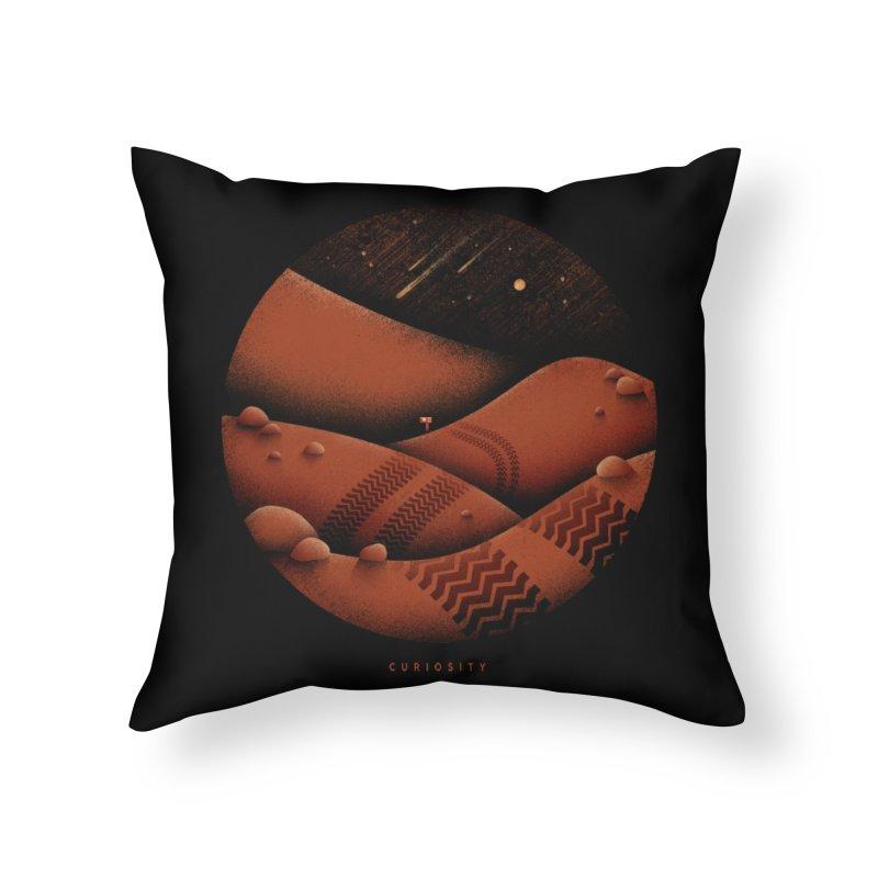 Curiosity Home Throw Pillow by gintron's Artist Shop