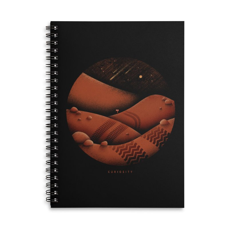 Curiosity Accessories Lined Spiral Notebook by Gintron