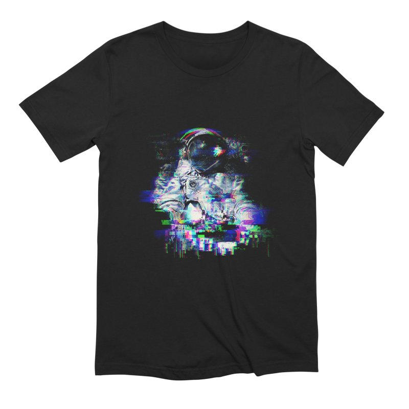 Space Glitch Men's Extra Soft T-Shirt by Gintron