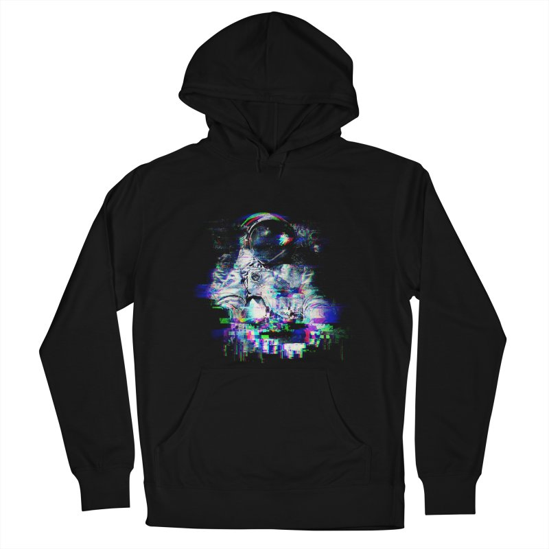 Space Glitch Men's French Terry Pullover Hoody by gintron's Artist Shop