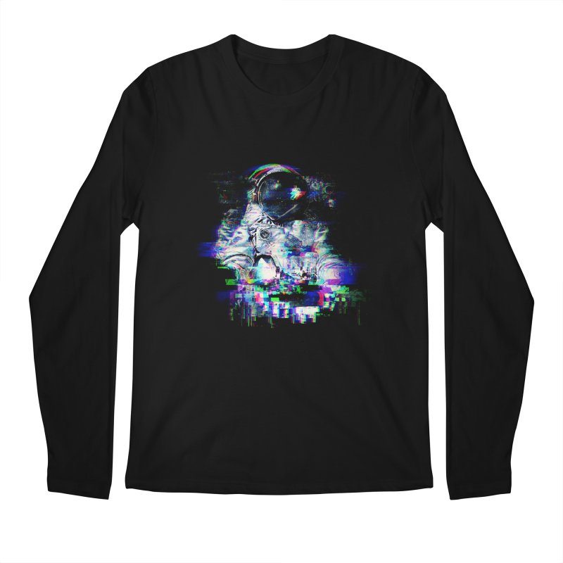 Space Glitch Men's Regular Longsleeve T-Shirt by gintron's Artist Shop
