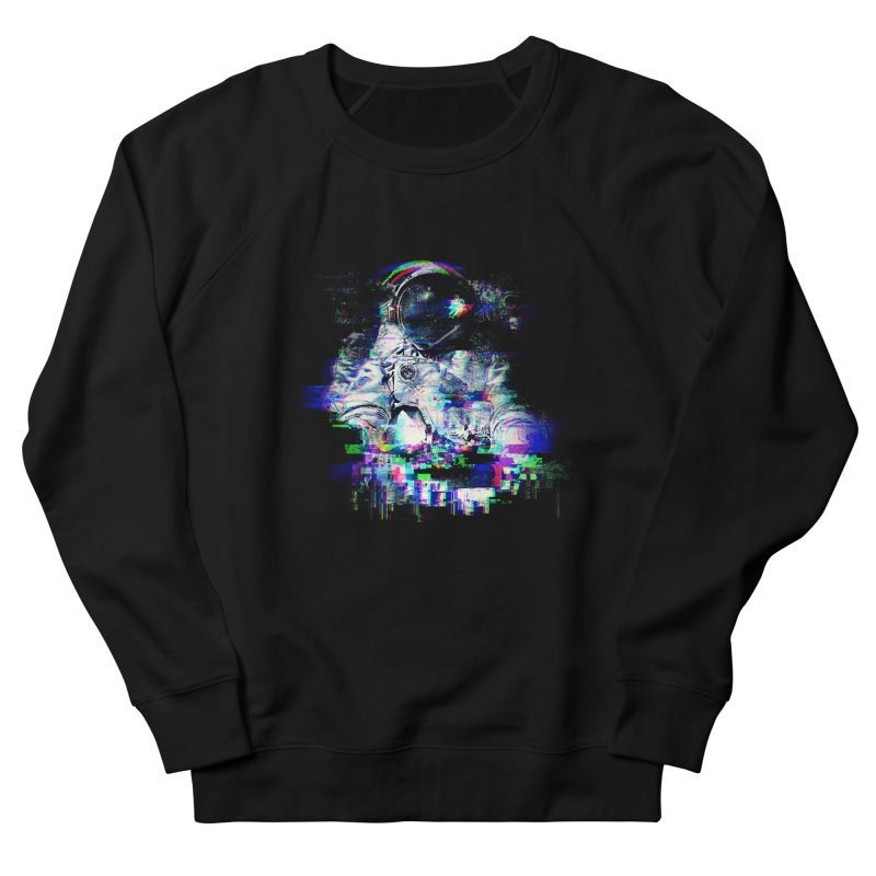 Space Glitch Men's Sweatshirt by gintron's Artist Shop