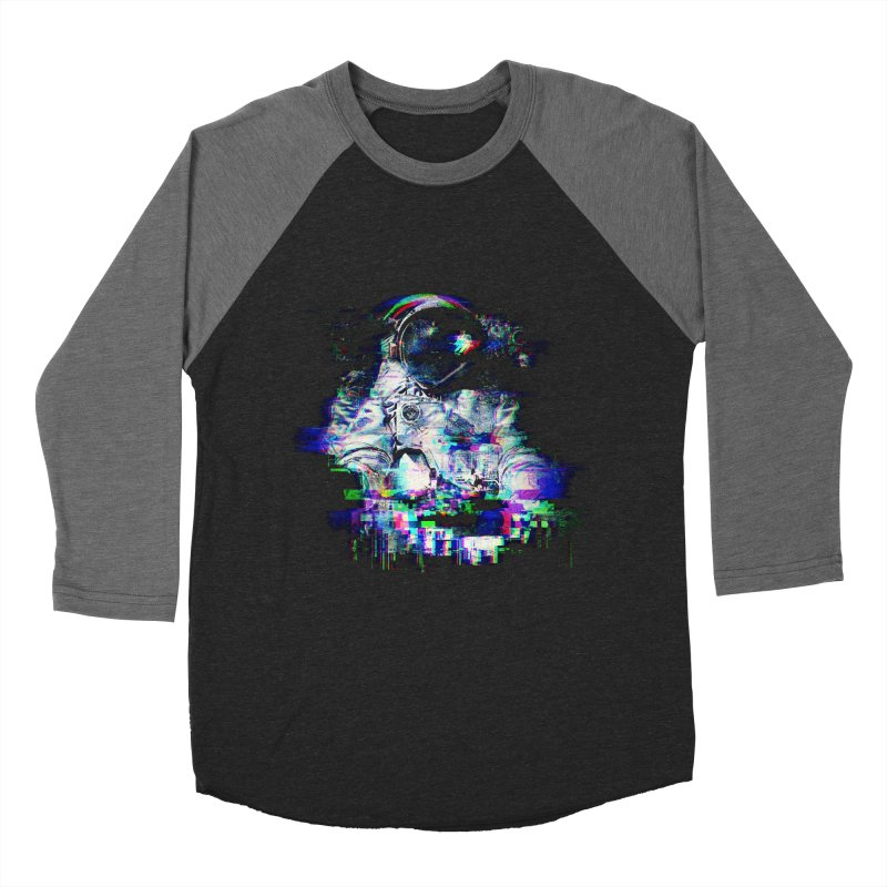 Space Glitch Women's Baseball Triblend T-Shirt by gintron's Artist Shop