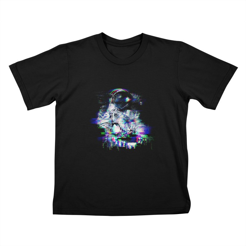 Space Glitch Kids T-Shirt by Gintron