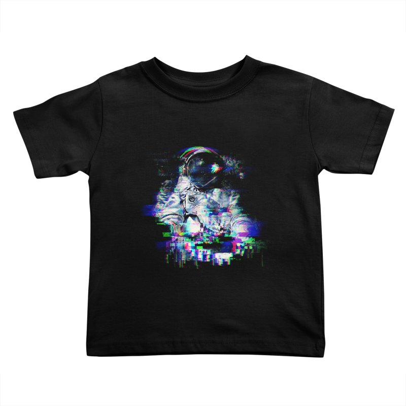 Space Glitch Kids Toddler T-Shirt by gintron's Artist Shop