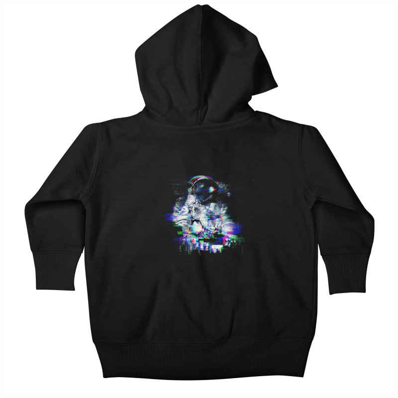 Space Glitch Kids Baby Zip-Up Hoody by gintron's Artist Shop