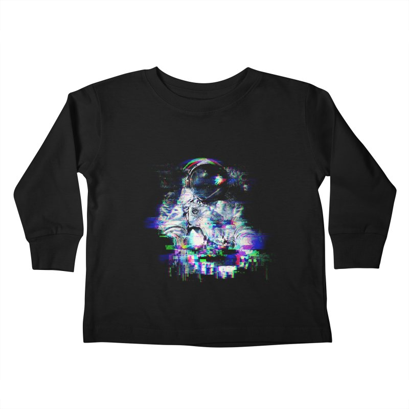 Space Glitch Kids Toddler Longsleeve T-Shirt by Gintron