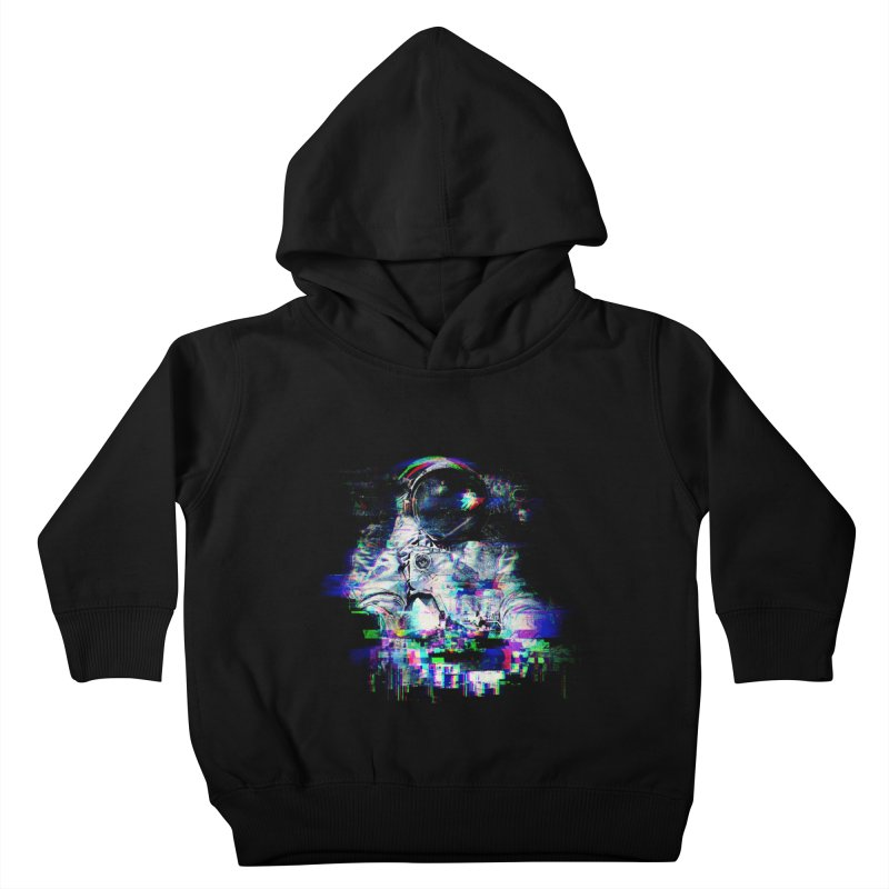 Space Glitch Kids Toddler Pullover Hoody by Gintron
