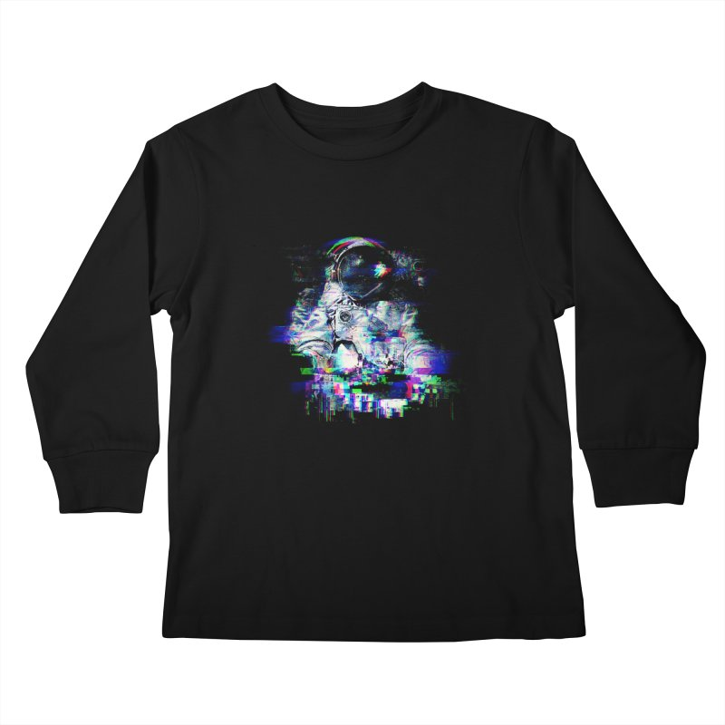 Space Glitch Kids Longsleeve T-Shirt by Gintron