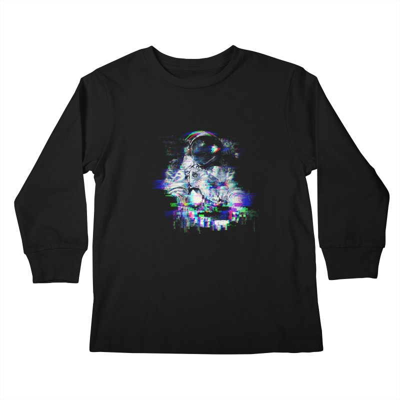 Space Glitch Kids Longsleeve T-Shirt by gintron's Artist Shop