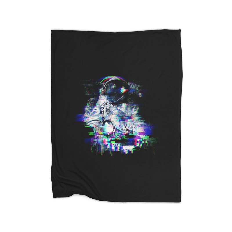 Space Glitch Home Fleece Blanket Blanket by Gintron