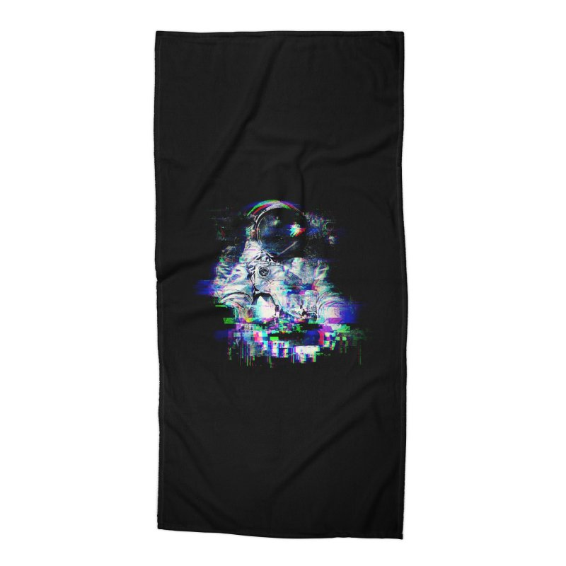 Space Glitch Accessories Beach Towel by gintron's Artist Shop