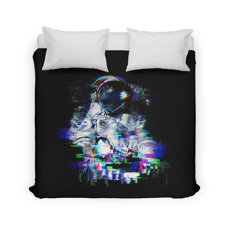Space Glitch Home Duvet by gintron's Artist Shop