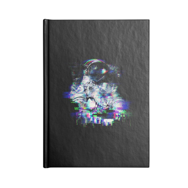 Space Glitch Accessories Lined Journal Notebook by Gintron