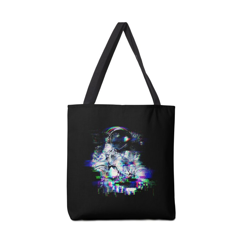 Space Glitch Accessories Tote Bag Bag by Gintron