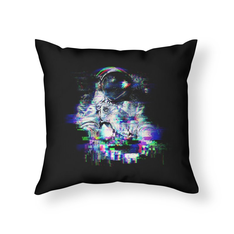 Space Glitch Home Throw Pillow by gintron's Artist Shop