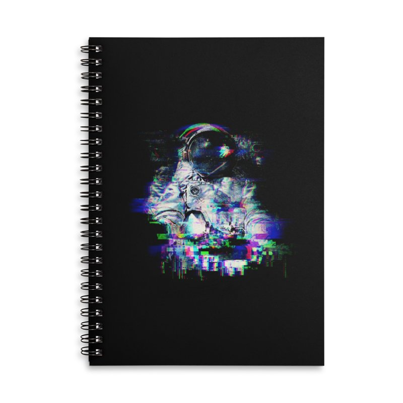 Space Glitch Accessories Lined Spiral Notebook by Gintron