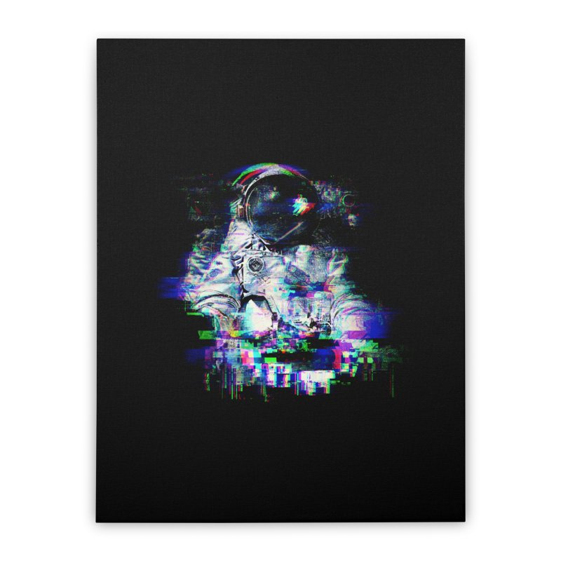Space Glitch Home Stretched Canvas by Gintron