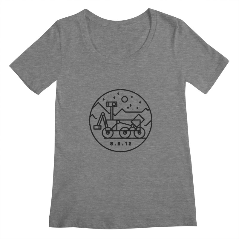 Stay Curious Women's Regular Scoop Neck by gintron's Artist Shop