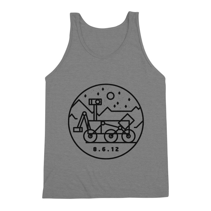 Stay Curious Men's Triblend Tank by Gintron