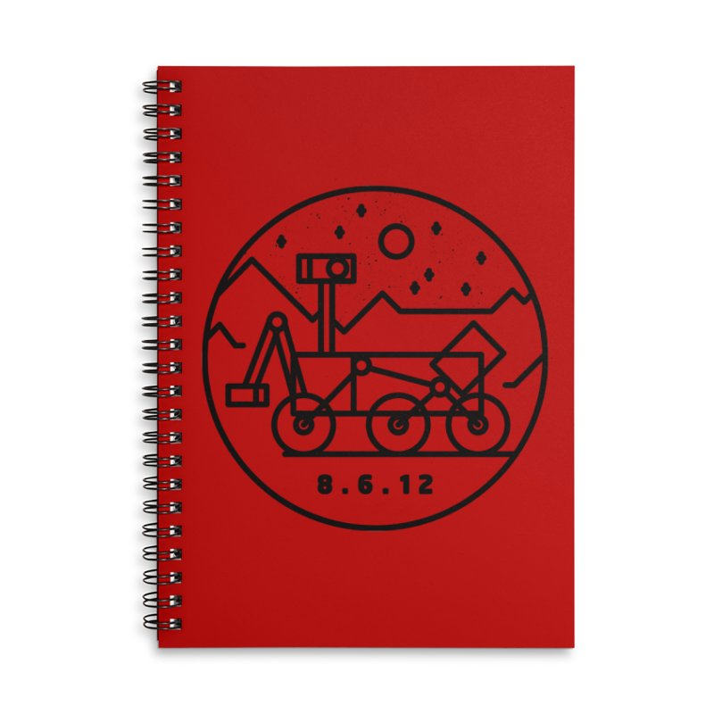Stay Curious Accessories Lined Spiral Notebook by Gintron