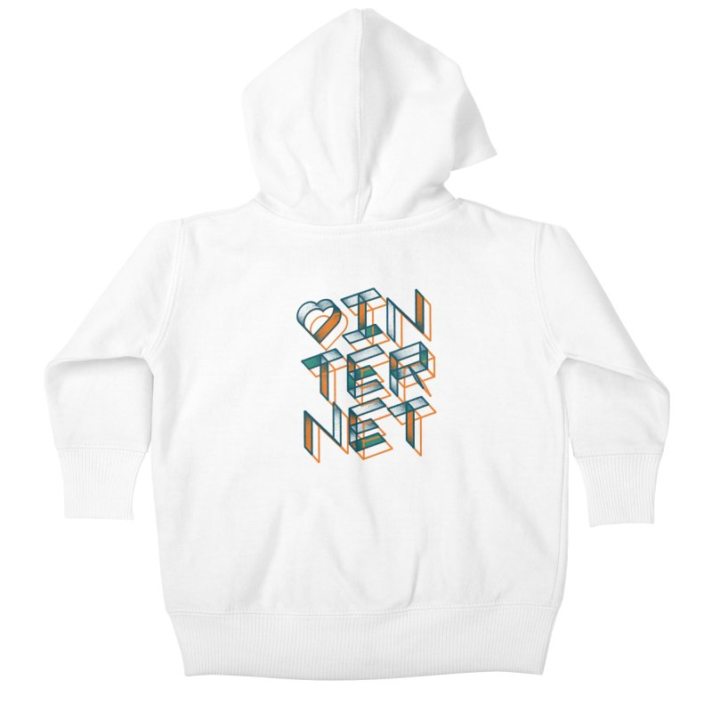 Heart Internet Kids Baby Zip-Up Hoody by gintron's Artist Shop