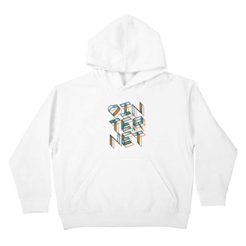 Heart Internet Kids Pullover Hoody by Gintron