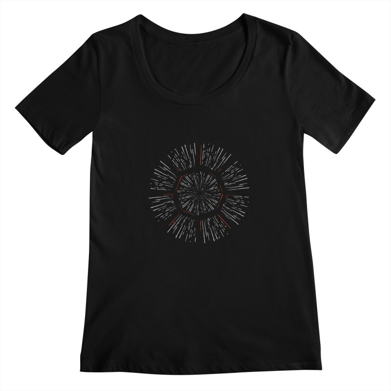 Light Speed Women's Scoopneck by gintron's Artist Shop