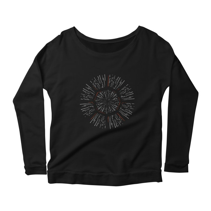 Light Speed Women's Longsleeve Scoopneck  by gintron's Artist Shop
